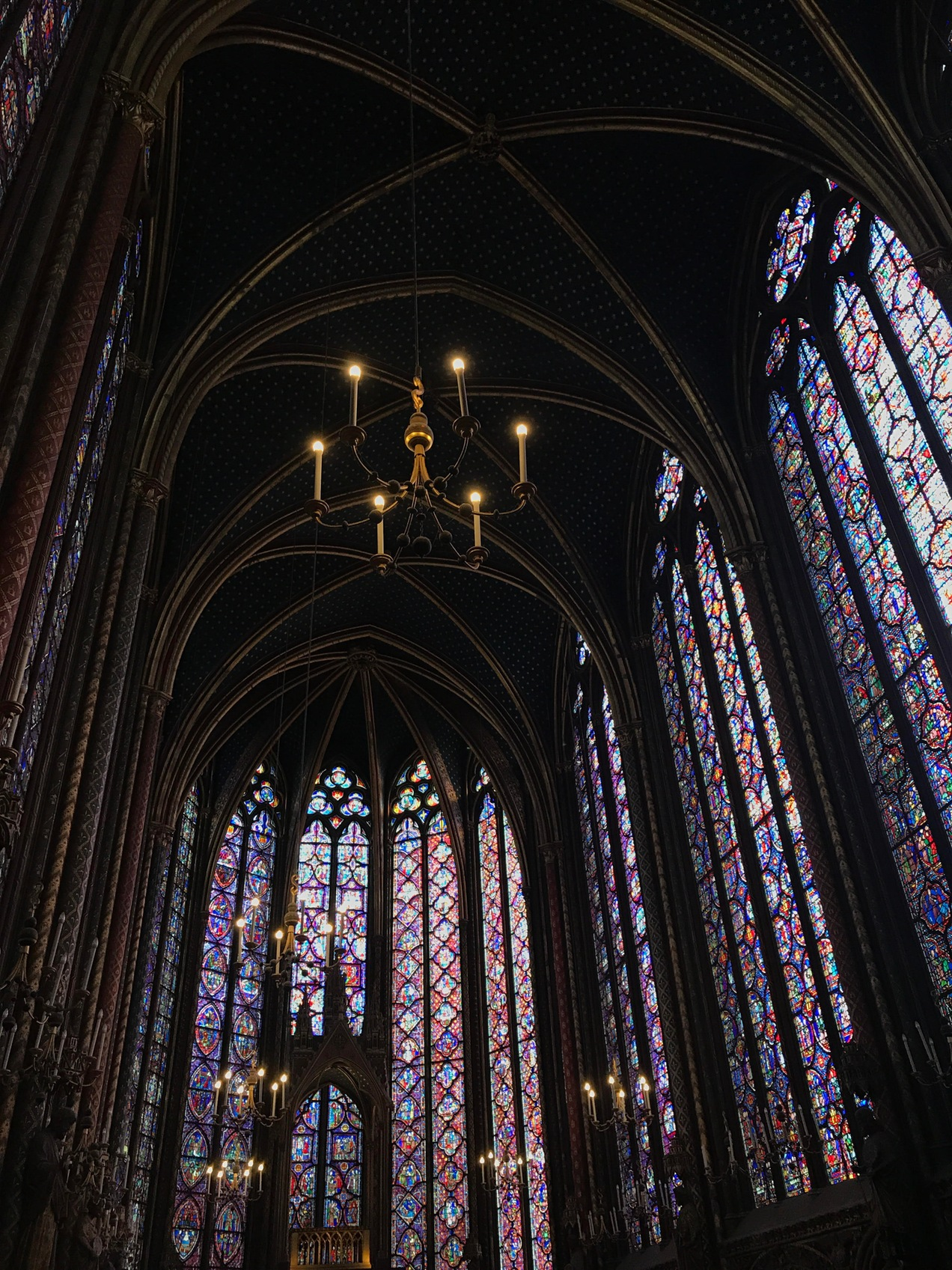 Stained Glass Windows inside Saint Chapelle