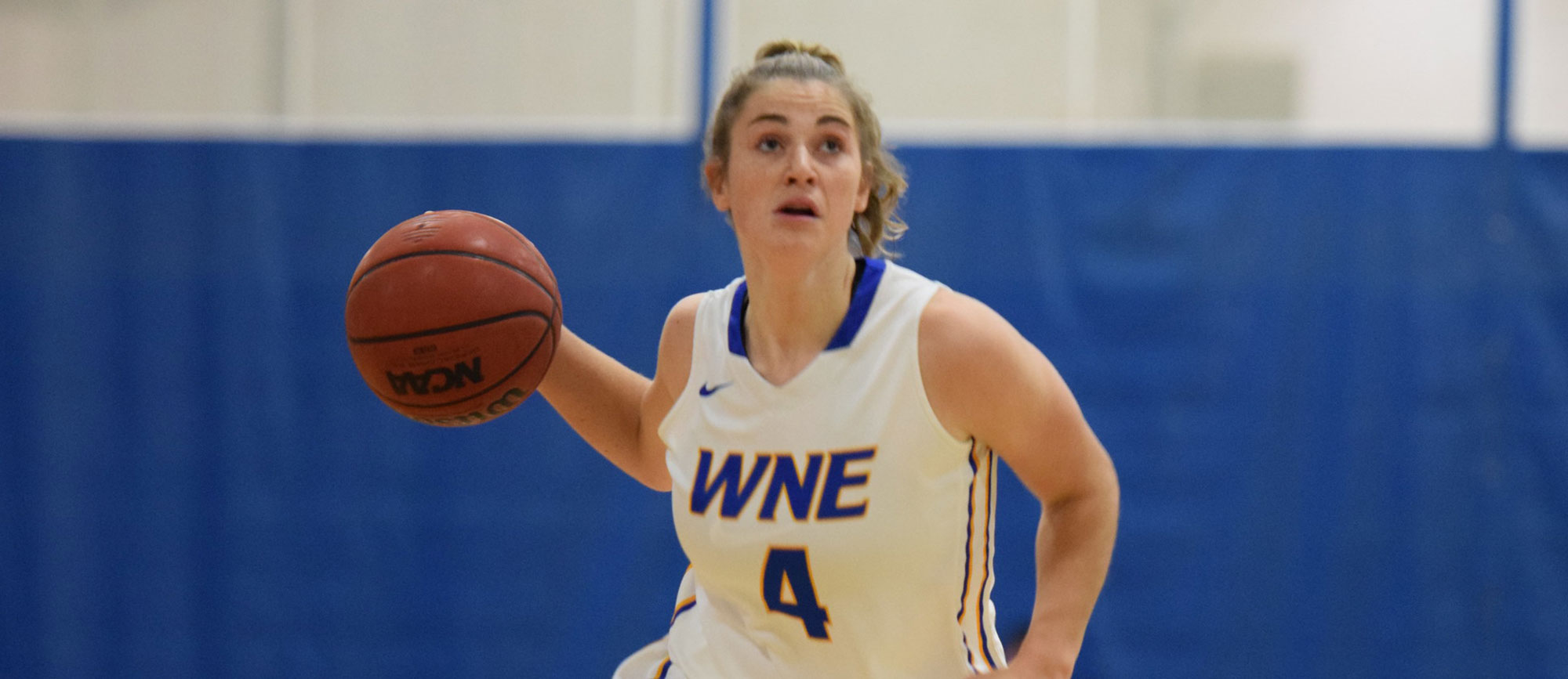 Lauren Chadwick scored a career-high 15 points in a 53-42 win over U. of New England. (Photo by Rachael Margossian)