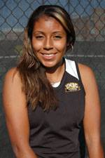 Isabel Aldunate is now 10-3 in singles in her freshman campaign.