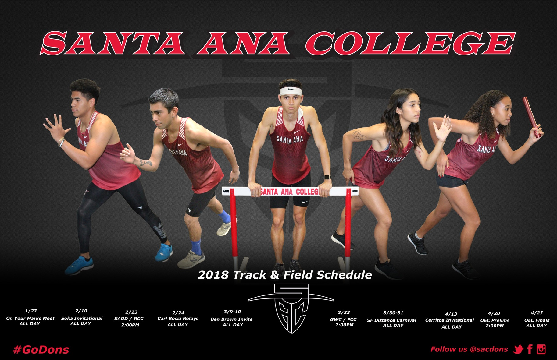 Dons Start Off 2018 Season with On Your Marks Meet