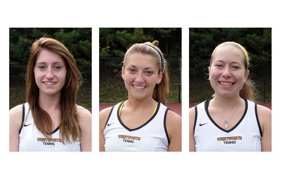 Caitlin Corcoran, Deborah Massaro, and Virginia Ofer each earned All-CCC honors in women's tennis