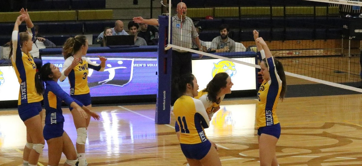 JWU Women's Volleyball Tops Hawks in NCAA Regional Semifinal