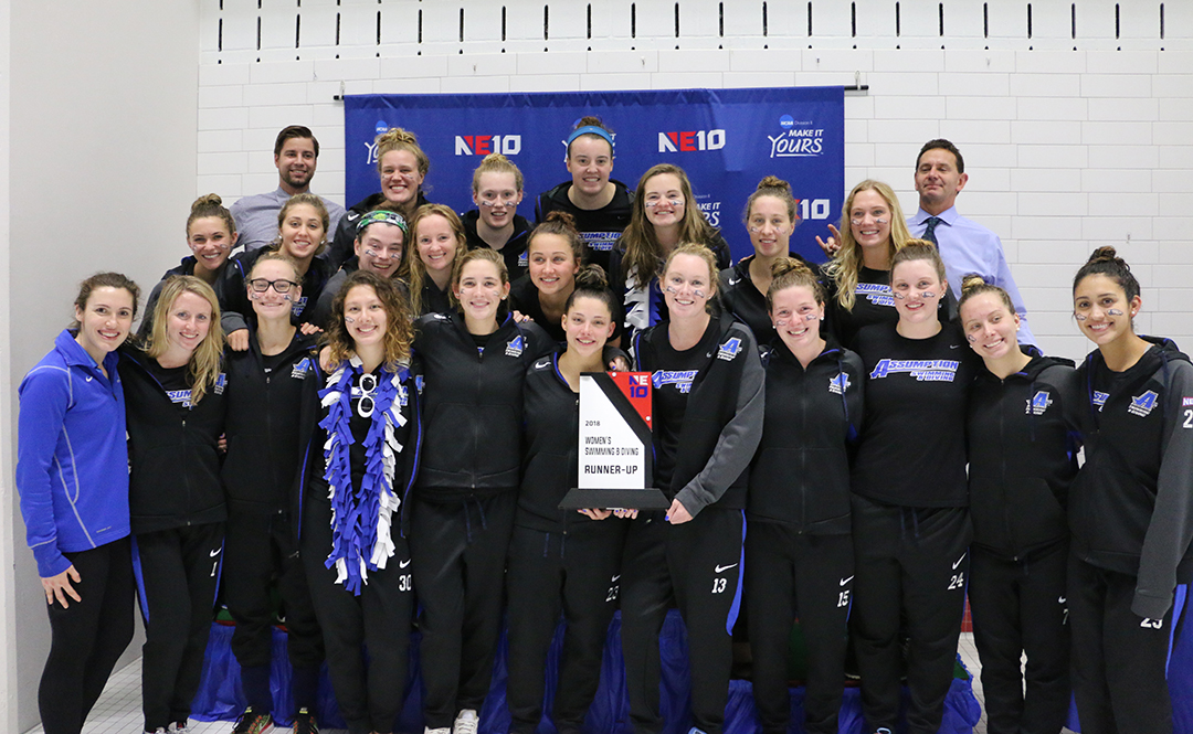 Swimming & Diving Places Second at NE10 Championships