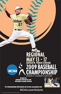 2009 NCAA Division III Baseball South Regional Poster