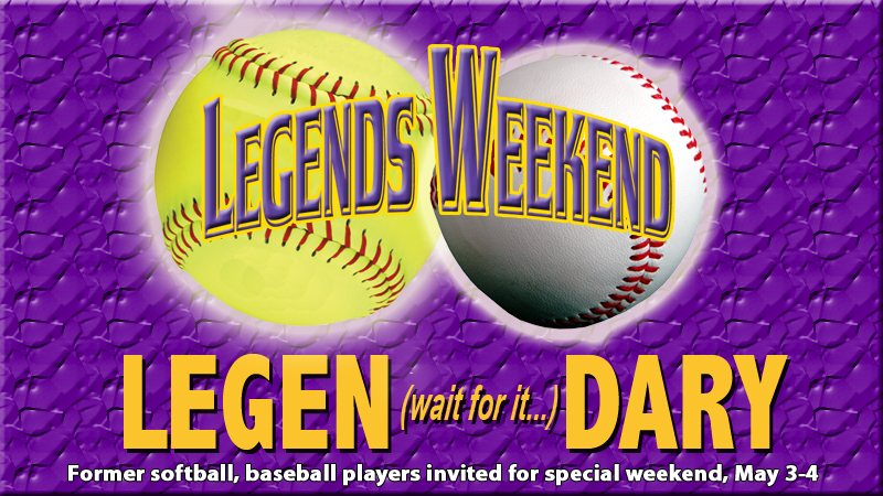 Softball, baseball teams to host Legends events May 3-4