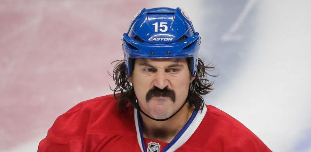 George Parros Habs39 Parros Led the Way During Movember ECAC Hockey