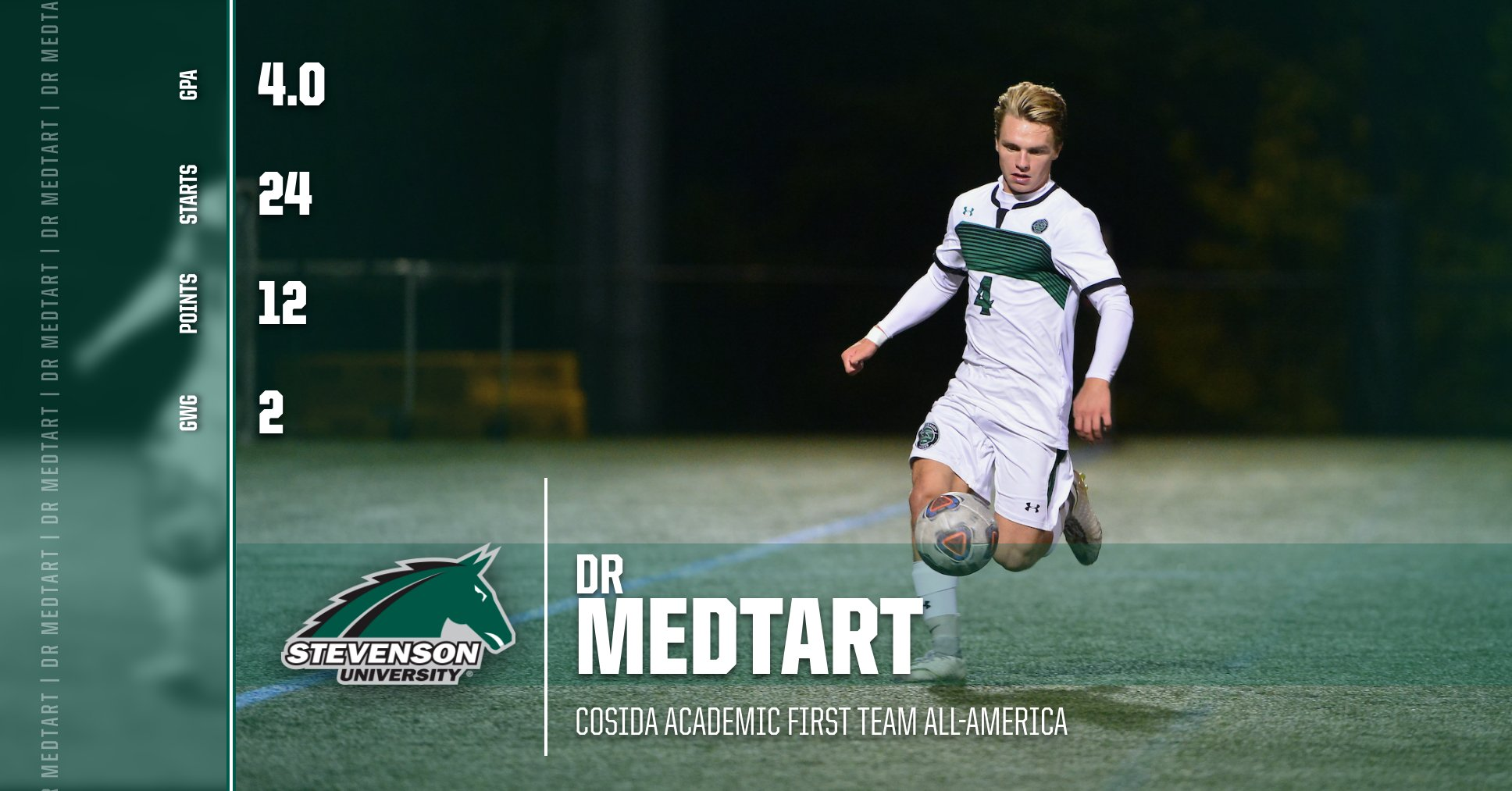 DR Medtart Named CoSIDA Academic First Team All-America