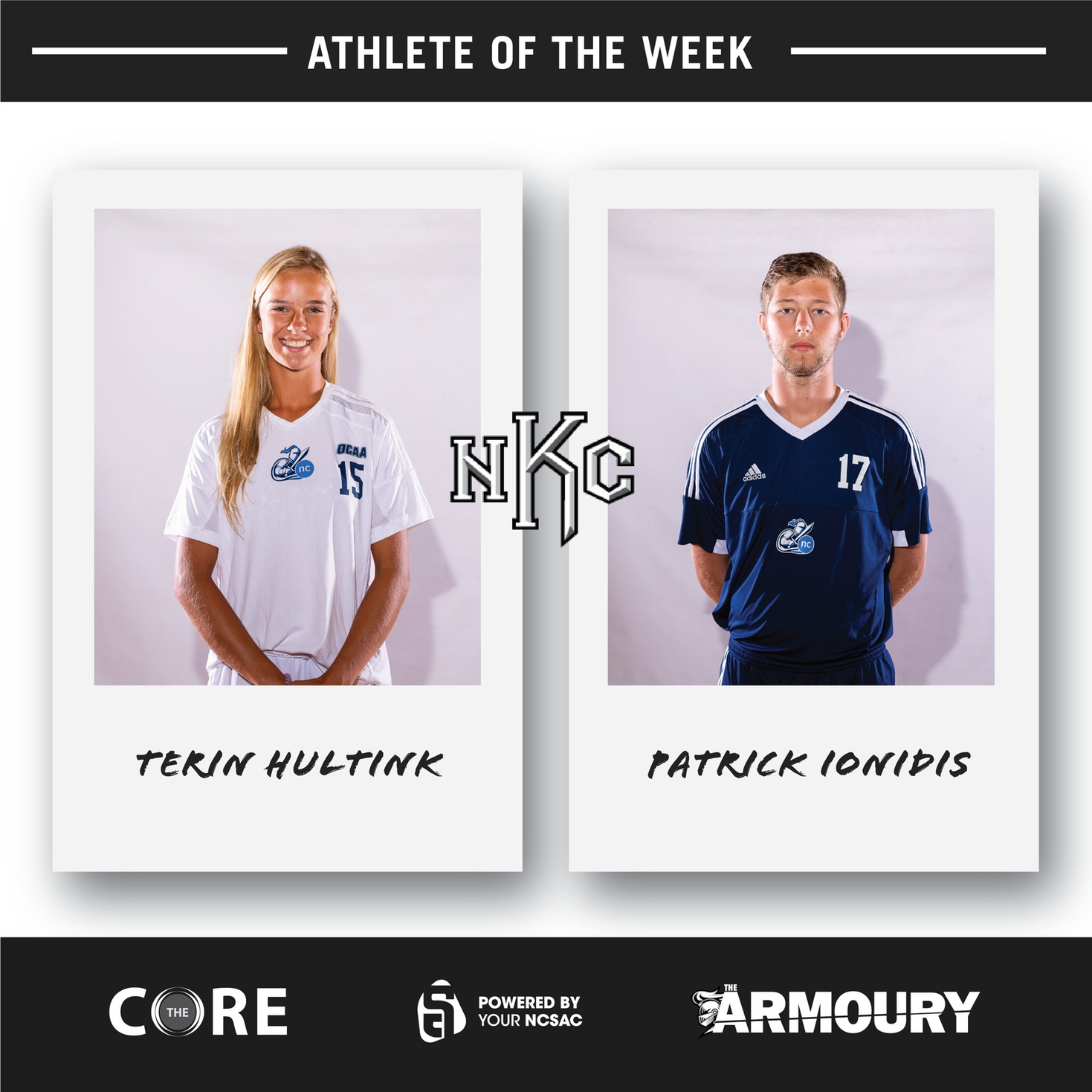 Hultink and Ionidis Earn Athlete of the Week Honours for September 23-27
