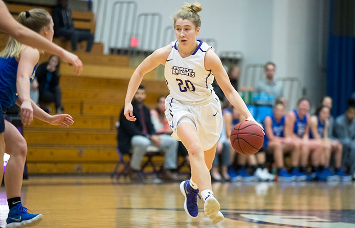 Women's Basketball Falls to Merrimack in Final NE10 Game of Semester