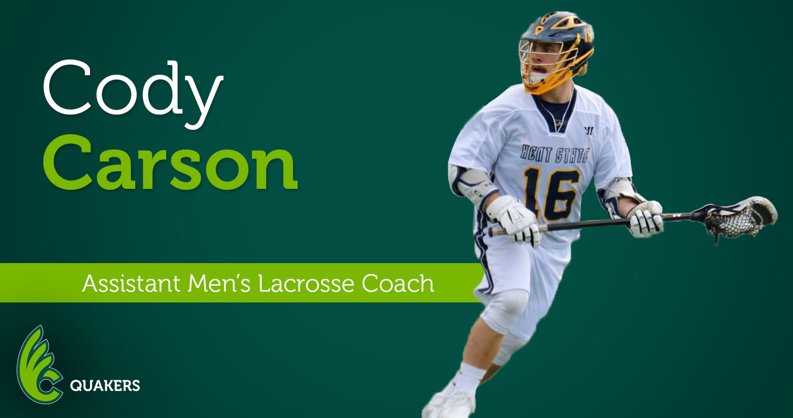 Cody Carson Joins Men's Lacrosse Program as Assistant Coach