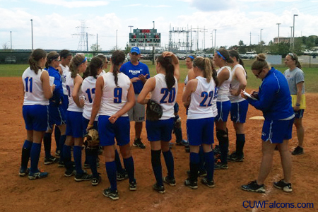 Softball splits pair of games in Florida