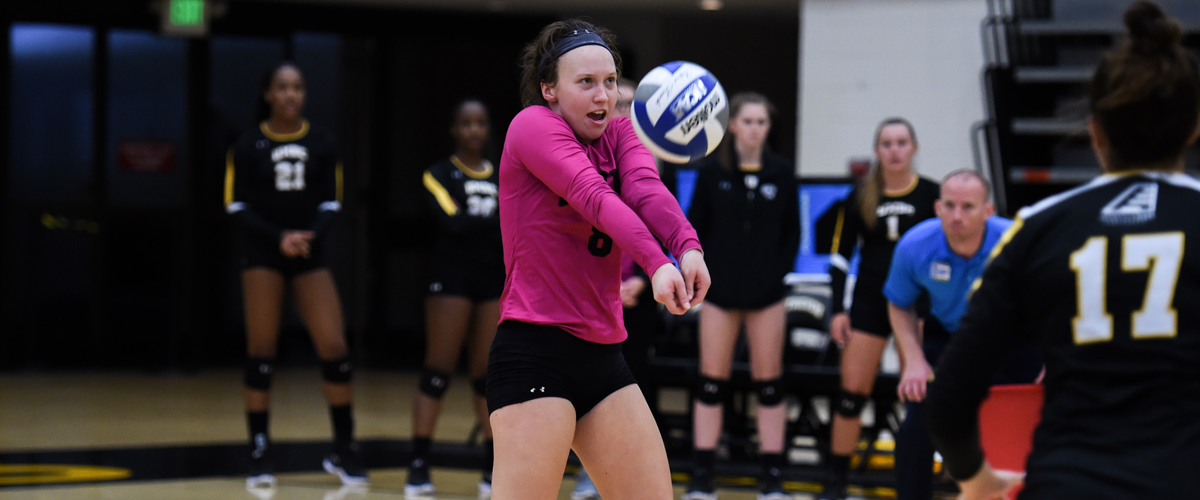 Volleyball Drops First-Place Match Against Albany Sunday Afternoon