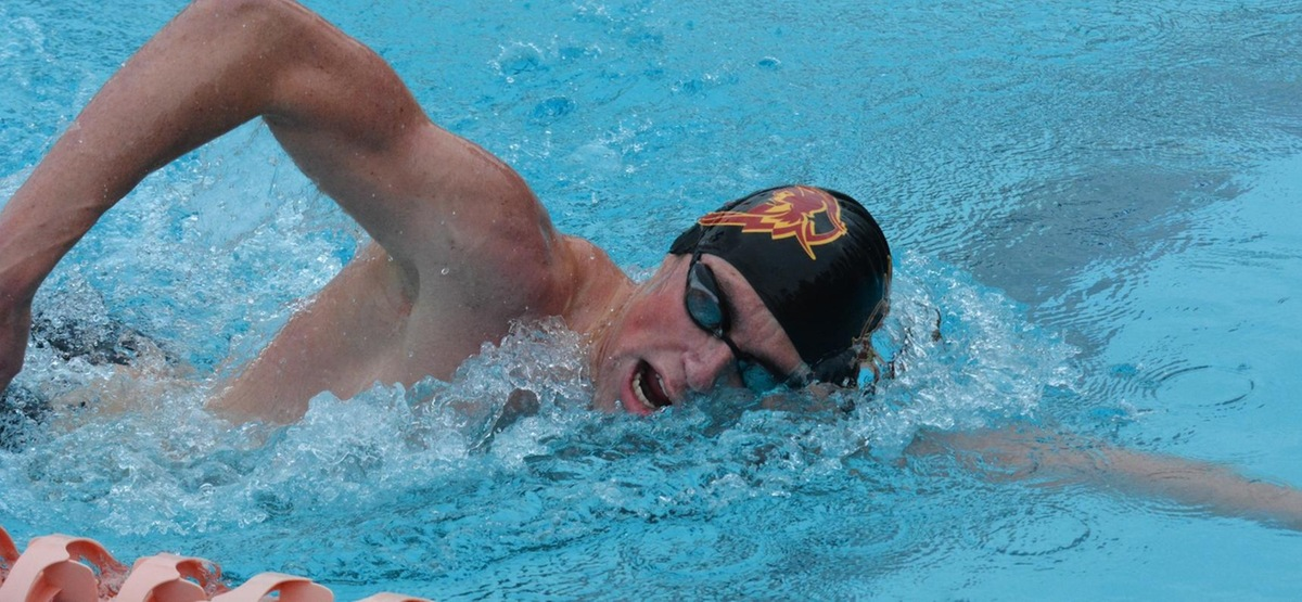 Senior Ben Culberson won the 500 free in his final meet at Axelrood Pool