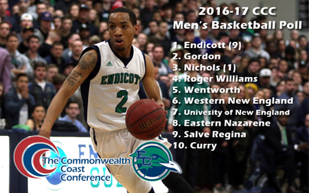 Men's Basketball Tabbed Tenth in Commonwealth Coast Conference Coaches' Poll