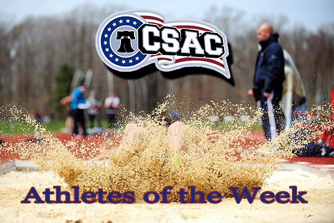 Sanders, Antonucci Earn CSAC Women's & Men's Field Athlete of the Week
