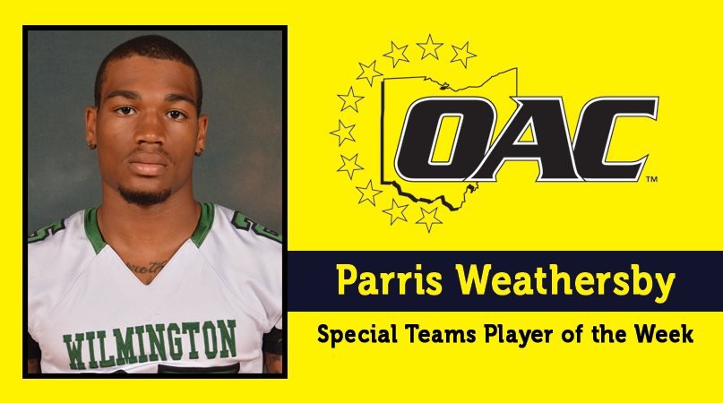 Weathersby honored by OAC