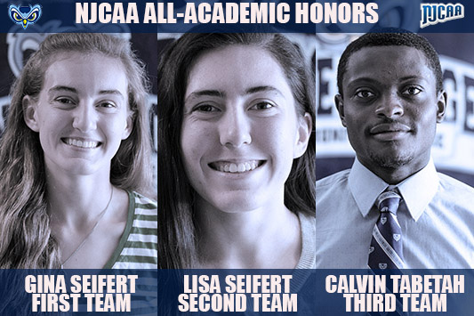 Gina And Lisa Seifert And Calvin Tabetah Named To NJCAA All-Academic Team