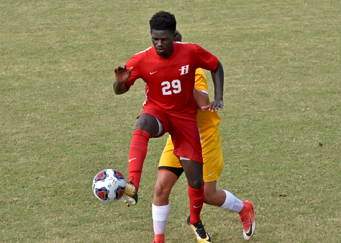 Kebba Jeng scored one goal in Tuesday night's 3-2 overtime loss at Birmingham-Southern.