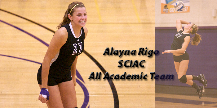 Rigo lands on All-SCIAC Academic Team