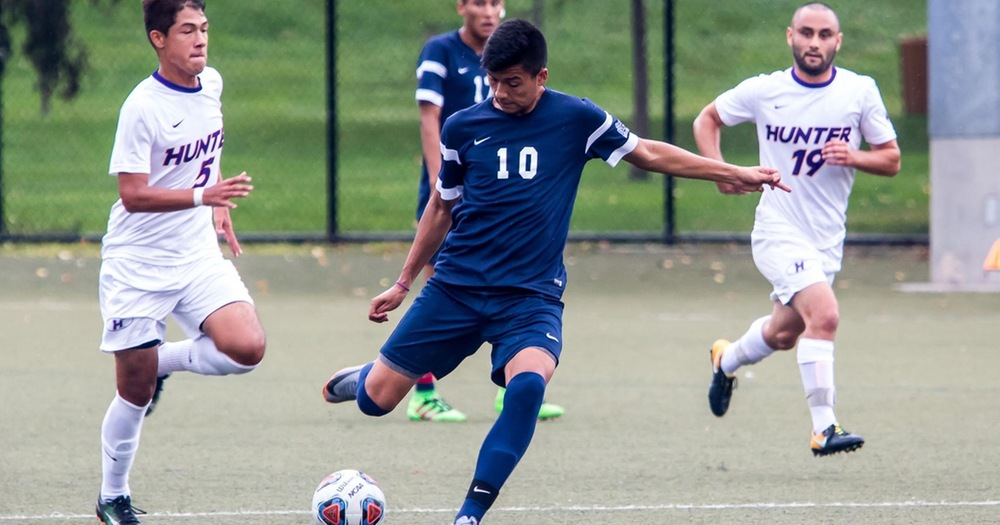 Garcia and Goncalves Power Men's Soccer Past Medgar Evers for First Win