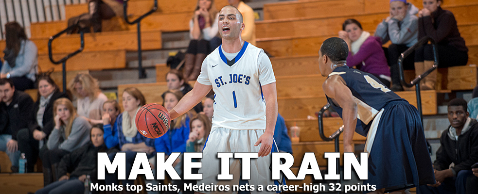 Career Night from Medeiros Moves Monks Past Saints, 78-67