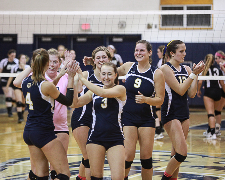 Gallaudet University women's volleyball team set to host 2012 NEAC tournament this weekend
