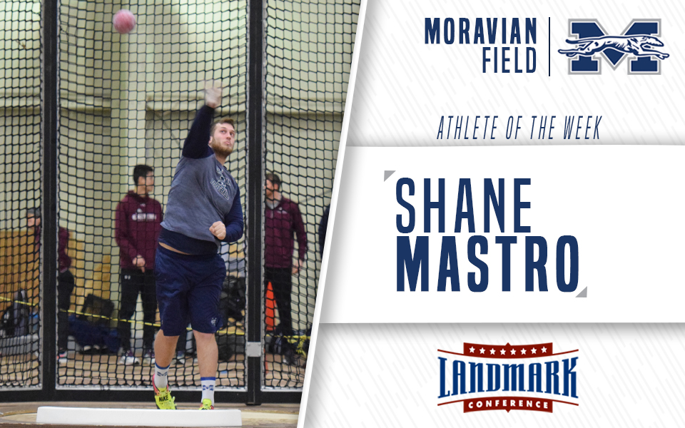 Sophomore Shane Mastro named Landmark Conference Men's Field Athlete of the Week.