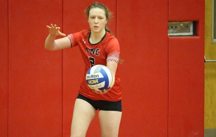 Women's Volleyball's Comeback Bid Falls Short in Five at University of New England