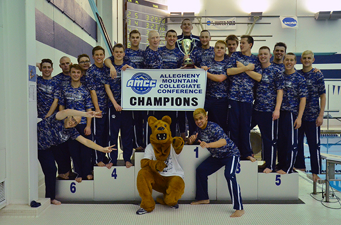 Men's Swimming and Diving Claims 12th Straight AMCC Championship