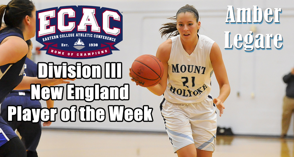 Legare Named ECAC DIII New England Player of the Week