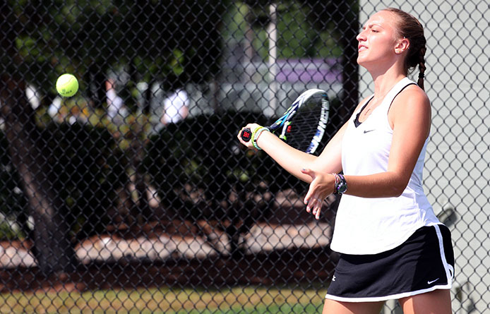 Women's Tennis Opens Season with 5-2 Setback to Roberts Wesleyan