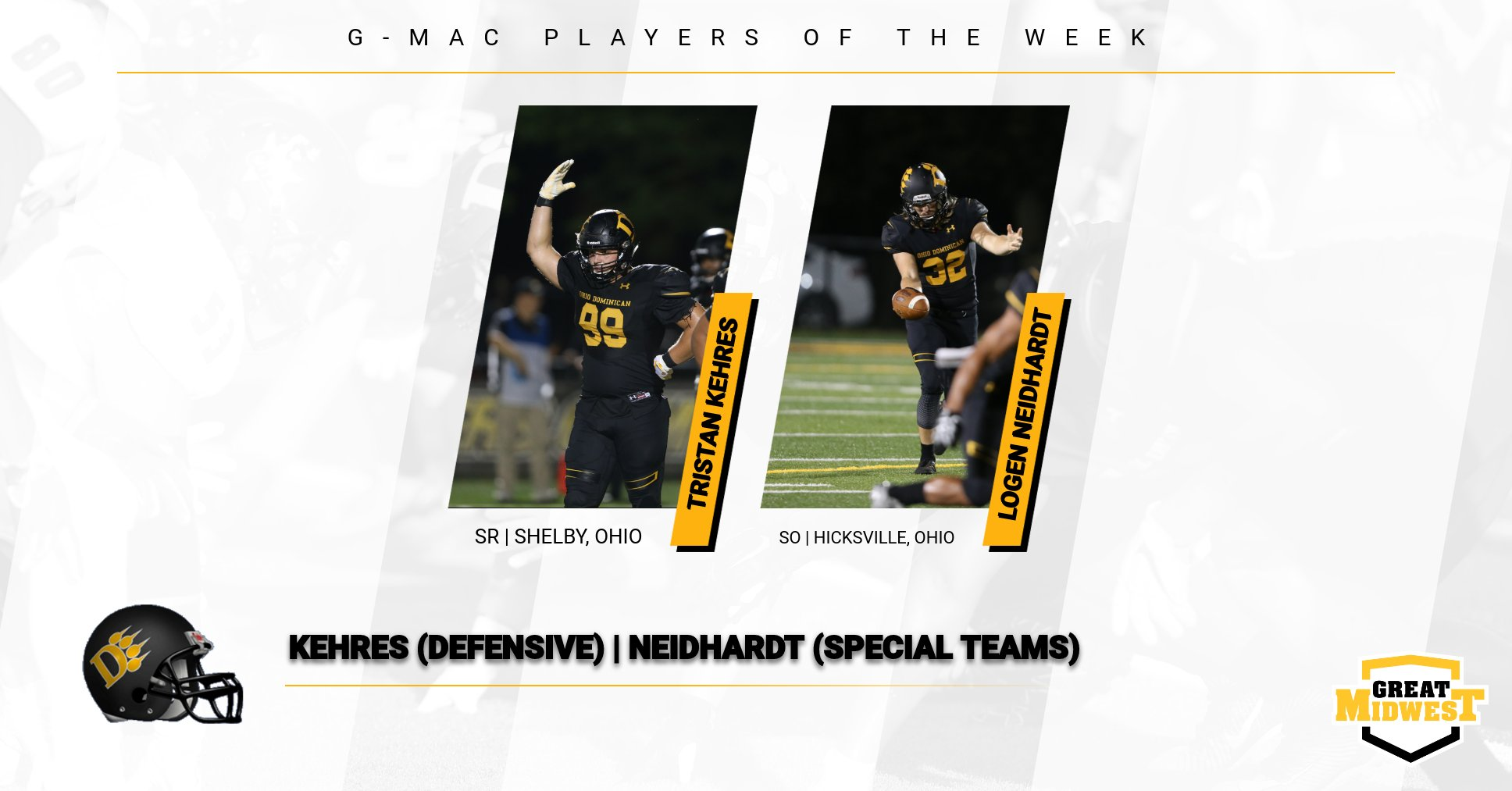Kehres, Neidhardt Earn G-MAC Weekly Honors