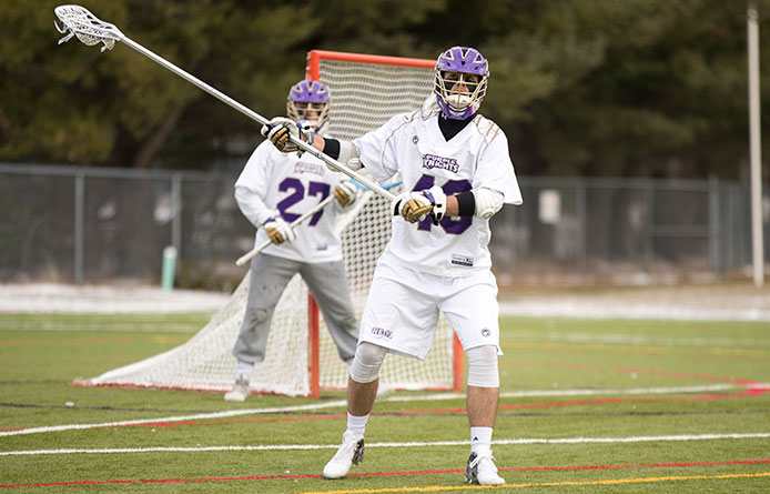 Men's lacrosse falls to nationally-regarded Assumption, 8-5