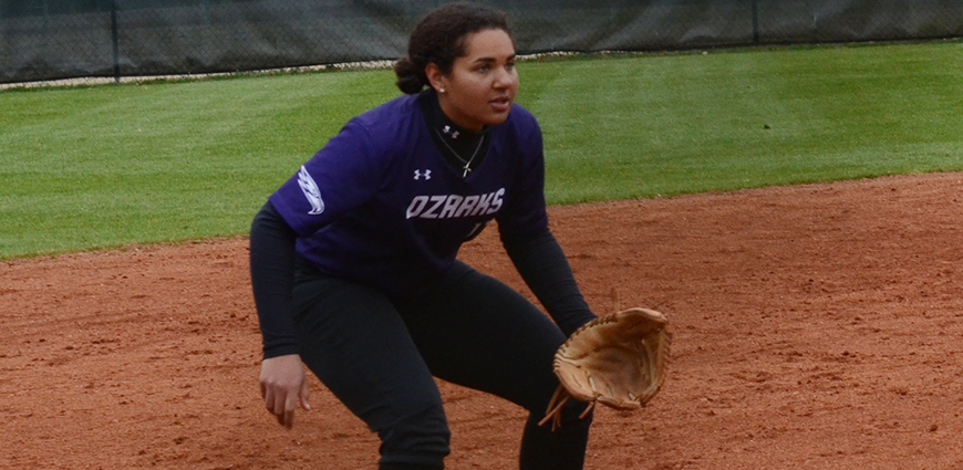 Sydney Key homered twice in a double-header against Central Baptist College.
