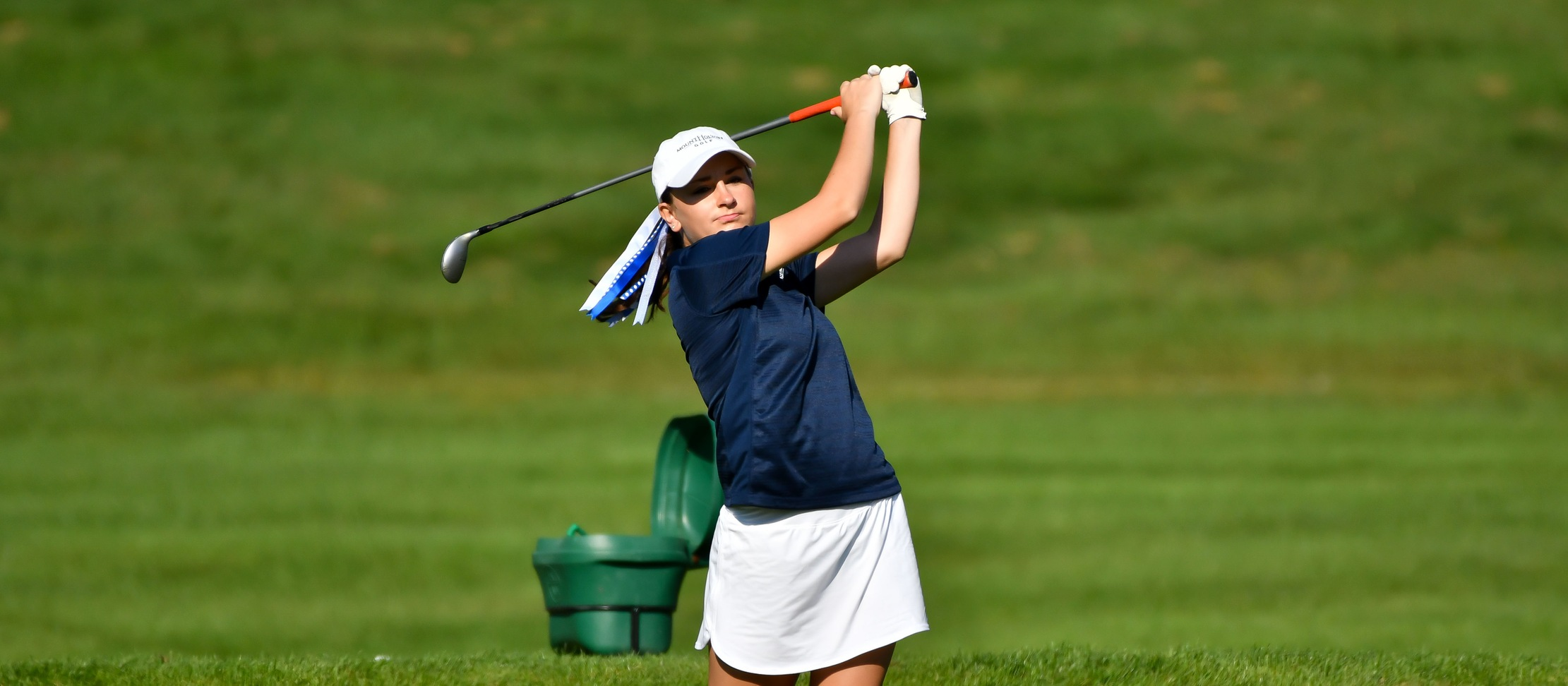 Action photo of Lyons golfer Elizabeth Andrian.