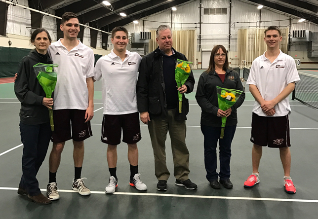 Men's tennis seniors - Jay Carter, Ian Hyte and Tyler Eagan - Shelby Alberghini