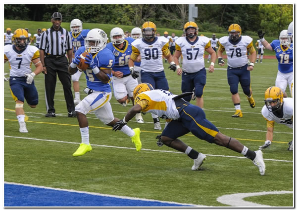 Mount football scores a 49-17 home win over Manchester University