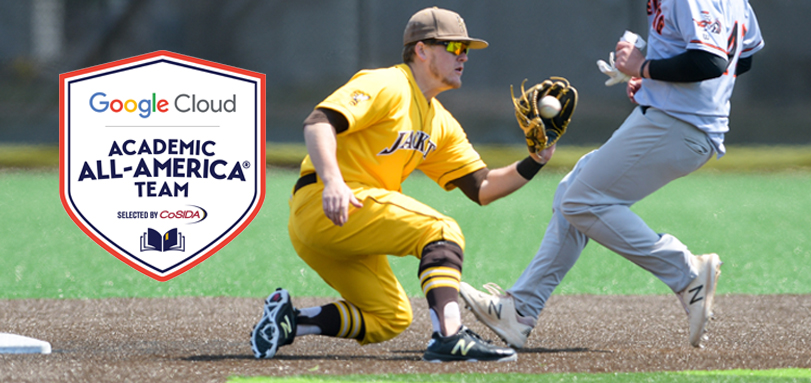 Senior All-OAC second baseman Spencer Badia was named Google Cloud Academic All-America of the Year (Photo courtesy of Jesse Kucewicz)