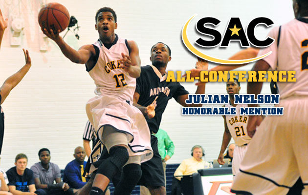 Coker's Nelson Named to All-SAC Men's Basketball Honorable Mention Team
