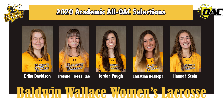 Five Women's Lacrosse Student-Athletes Announced to 2020 Academic All-OAC Team