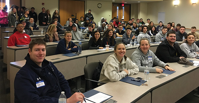 Moravian's student-athletes take part in Sophomore Leadership Day.