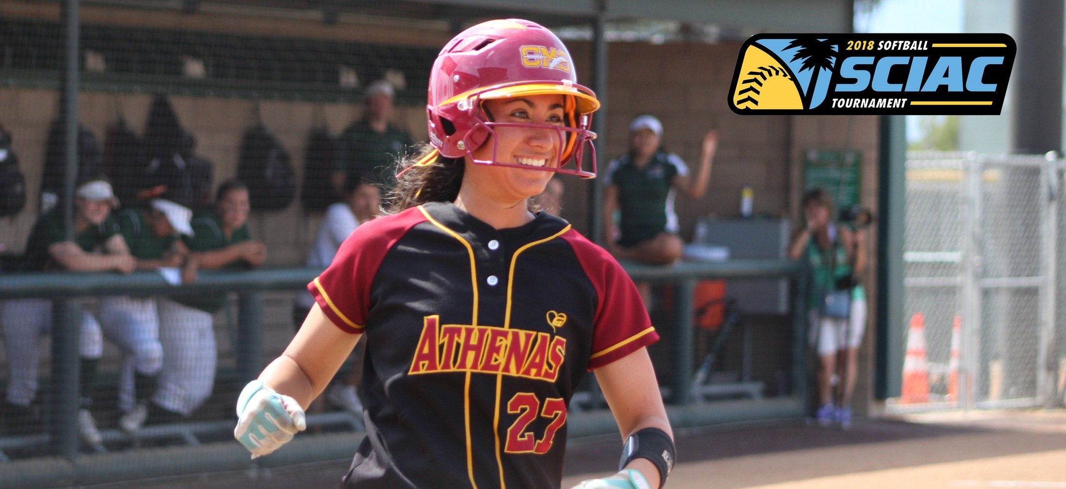 Jessica Fox doubled then scored the game-winning run against La Verne. (photo credit: Alisha Alexander)