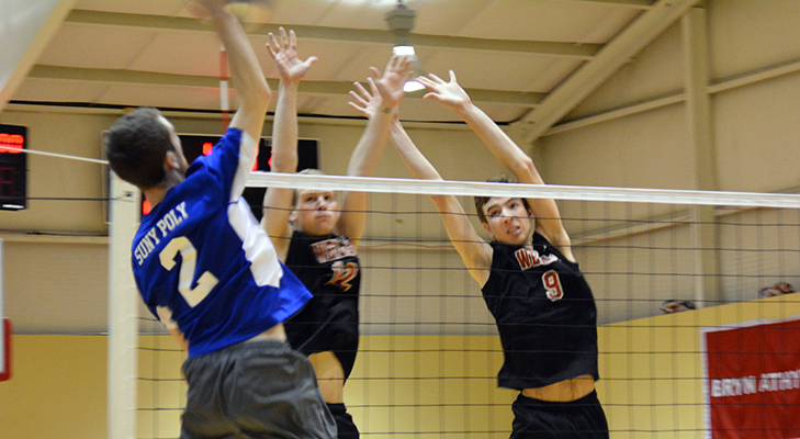 Men's Volleyball Upended By SUNY Poly In Key NEAC Tilt