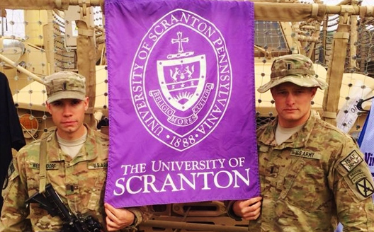 Nick Westendorf (left) and Sean Milde are both former University of Scranton athletes who are currently serving in Afghanistan.
