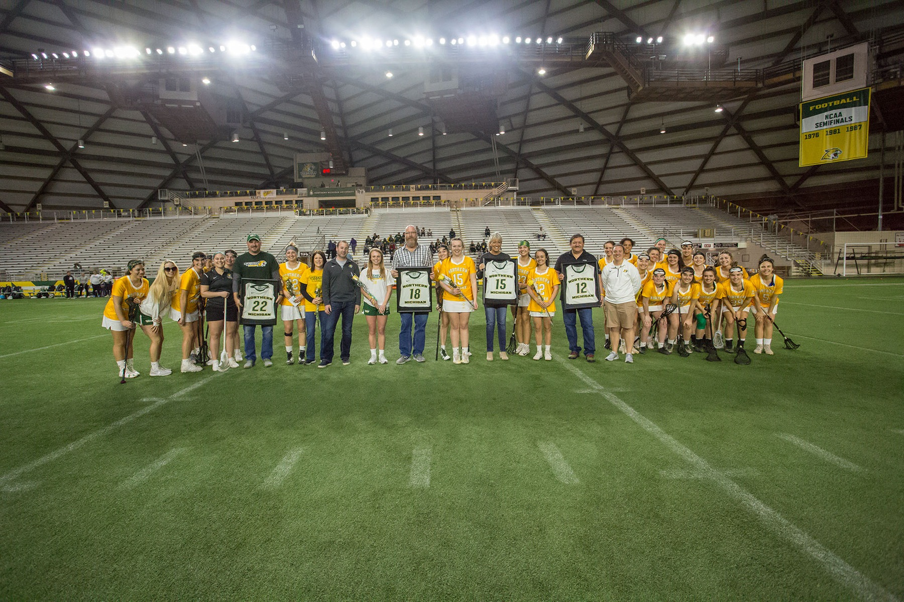 Lacrosse Celebrates Senior Day with School Record 24 Goals to Advance to First Postseason