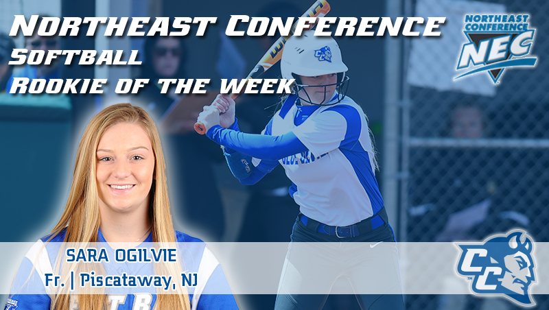 Ogilvie Honored as Rookie of the Week by Northeast Conference on Monday