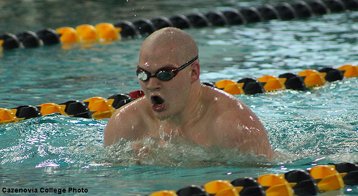 Men's Swimming Leads NEAC Meet After Day 1