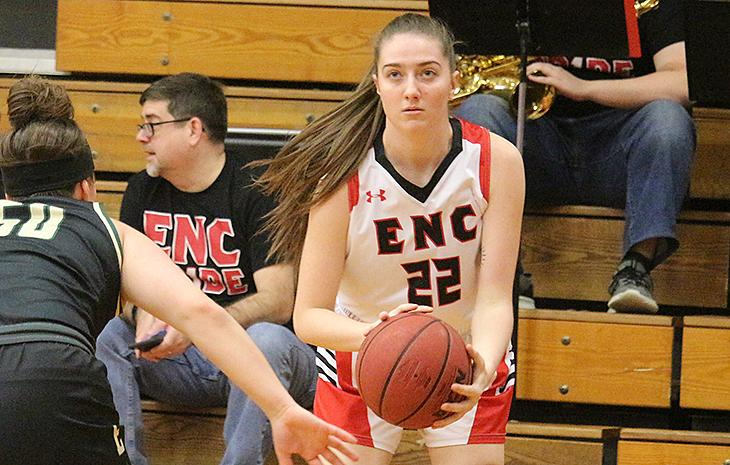 Top-Seeded Women's Basketball Tops No. 4 Seed Becker in NECC Tournament Semifinals, 54-44