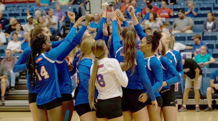 The Blue Dragon volleyball team drops a pair of matches to No. 11 Panola in four sets and New Mexico Military in three on Saturday in Roswell, NM