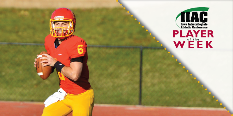 Nelson named IIAC Offensive Player of the Week